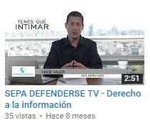 Sepa Defenderse TV - Derecho a la Información